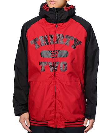 Thirtytwo Bradshaw Sesh Red 8K Snowboard Jacket