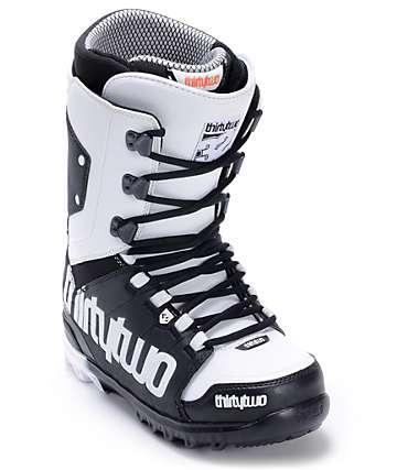 Thirtytwo Lashed Black & White Men's Snowboard Boots