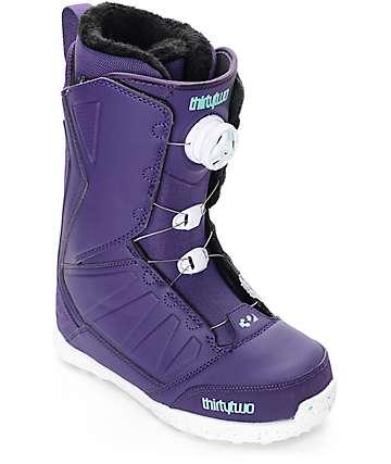 Thirtytwo Lashed Boa botas de snowboard para mujeres en morado