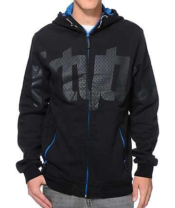 Thirtytwo Reppin Black Zip Up Tech Fleece Jacket