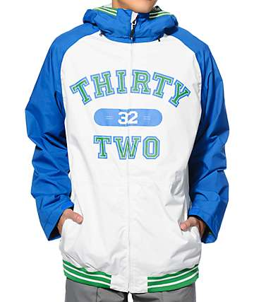 Thirtytwo Sesh Blue 8K Snowboard Jacket