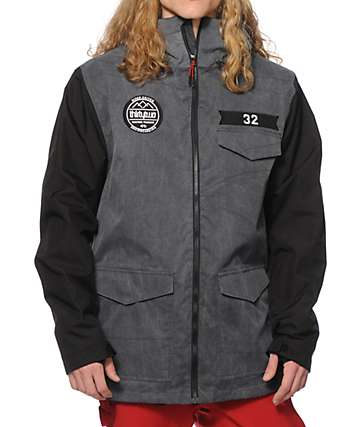 Thirtytwo Sesh Stain Black 8K Snowboard Jacket