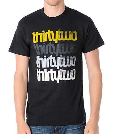 Thirtytwo Stacker Black & Gold T-Shirt