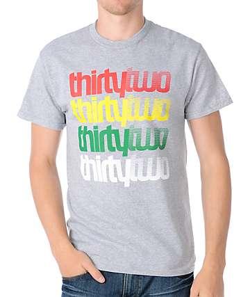 Thirtytwo Stacker Grey & Rasta T-Shirt