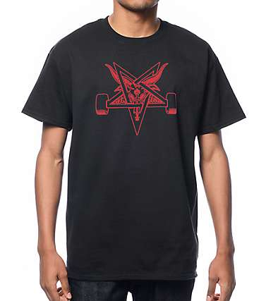 Thrasher Blackout Goat Black T-Shirt