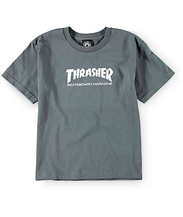 Thrasher Boys Mag Charcoal T-Shirt