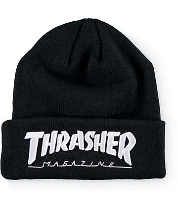 Thrasher Embroidered Logo Black Beanie