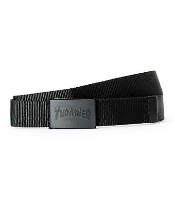 Thrasher Flame Bottle Opener Web Belt