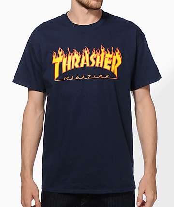 Thrasher Flame Logo camiseta
