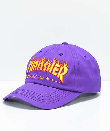 Thrasher Flame Purple Old Time Hat