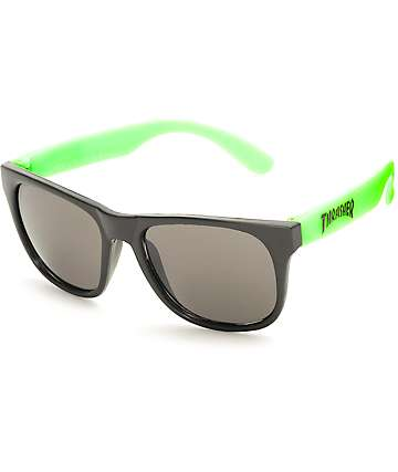 Thrasher Logo Green Sunglasses