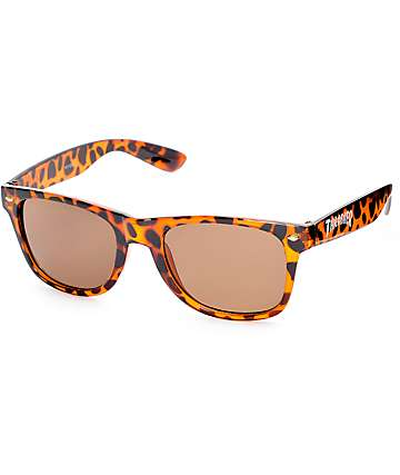 Thrasher Logo Tortoise Shell Sunglasses
