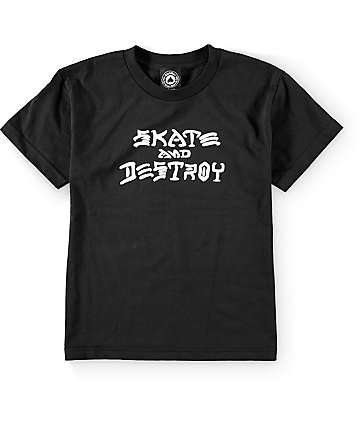 Thrasher Mag Skate & Destroy Black Boys T-Shirt