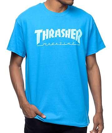 Thrasher Magazine Logo Sapphire T-Shirt