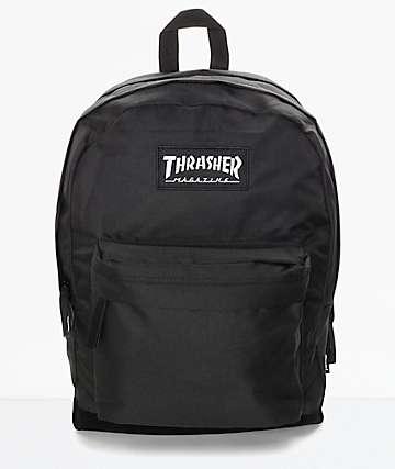 Thrasher Magazine Logo mochila negra