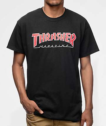 Thrasher Magazine Outlined Black T-Shirt