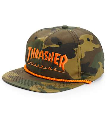 Thrasher Rope Camo Snapback Hat