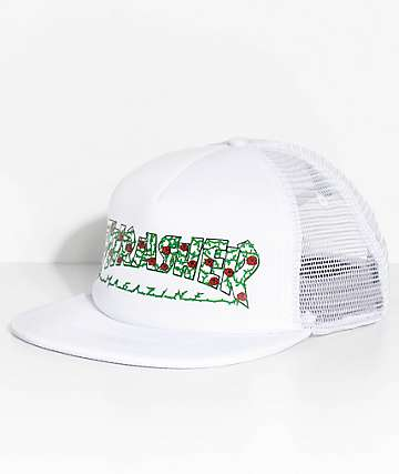 Thrasher Roses White Trucker Hat