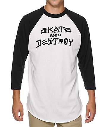 Thrasher Skate And Destroy Baseball T-Shirt