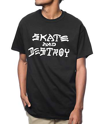 Thrasher Skate And Destroy camiseta negra
