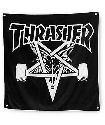 Thrasher Skate Goat Black Banner
