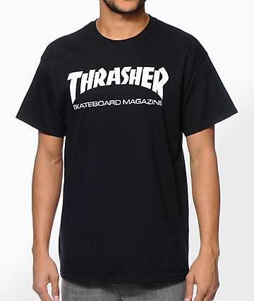 Thrasher Skate Mag camiseta negra