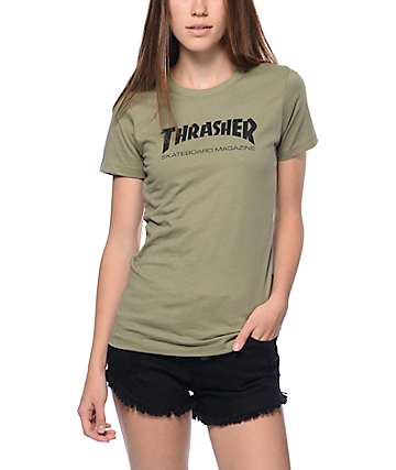 Thrasher Skate Magazine Green Slim Fit T-Shirt