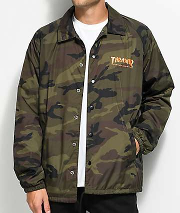Thrasher Skategoat Camo Coaches Jacket