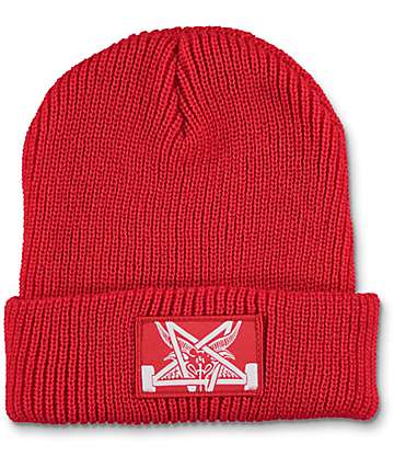 Thrasher Skategoat Zoom Red Beanie