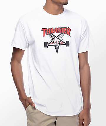 Thrasher Two Tone Skategoat White T-Shirt
