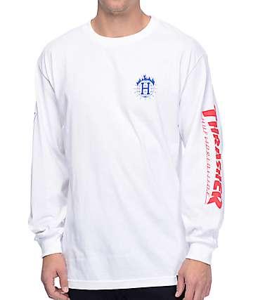 Thrasher X HUF TDS camiseta blanca de manga larga