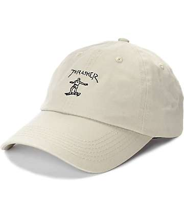 Thrasher x Gonz Old Timer Tan Baseball Hat