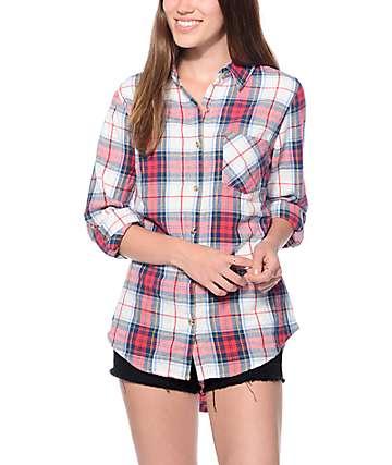 Thread & Supply James Red Plaid & Cream Shirt