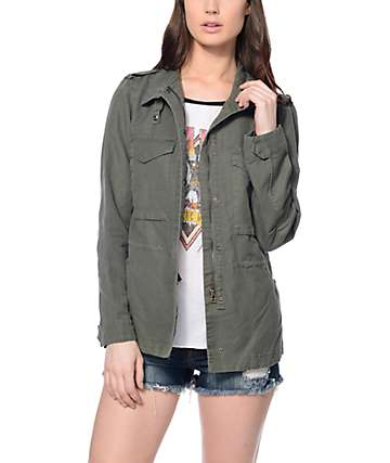 Thread & Supply Kallie Olive Military Jacket