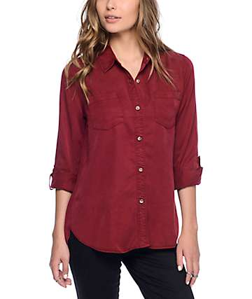 Thread & Supply Steph Burgundy Button Up Shirt