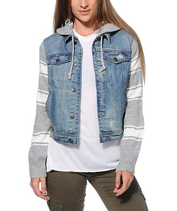 Thread & Supply Sweater Denim Jacket