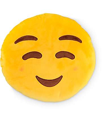 Throwboy Blush Emoji Pillow