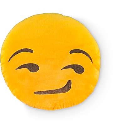 Throwboy Emoji Smirk Pillow