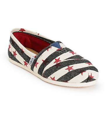 Toms Alpargata Stars & Stripes Womens Shoes