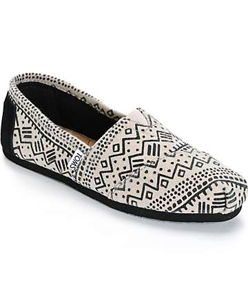 Toms Alpargata Taupe Printed Wool Womens Shoes