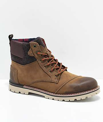 Toms Ashland Brown Burnished Leather Boots