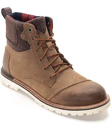 Toms Ashland Brown Leather Boots