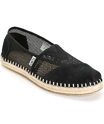Toms Classic Black Mesh Women's Shoes