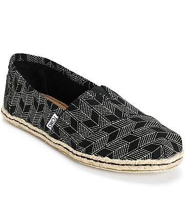 Toms Classic Black Shashiko Women's Shoes