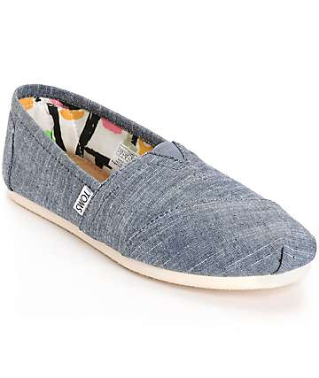 Toms Classic Blue Chambray Womens Shoes