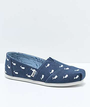 Toms Classic Embroidered Whales Shoes