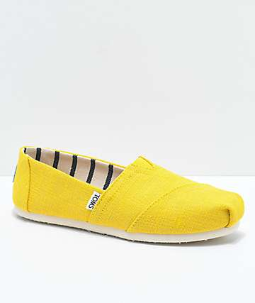 Toms Classic Venice Dandelion Yellow Shoes