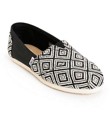 Toms Classic Woven Diamond Womens Shoes