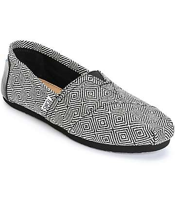 Toms Classics Black Diamond Wool Womens Shoes
