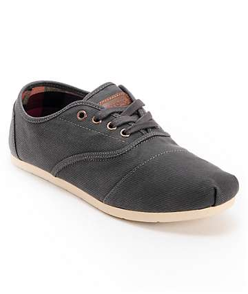 Toms Cordones Ash Twill Waxed Canvas Men's Shoes